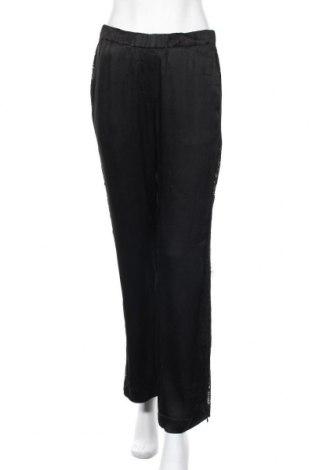 Дамски панталон Samsoe & Samsoe, Размер S, Цвят Черен, Вискоза, Цена 23,80лв.