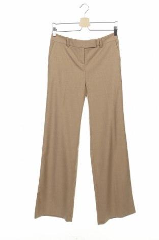 Дамски панталон Stefanel, Размер XS, Цвят Бежов, 69% полиестер, 29% вискоза, 2% естествена кожа, Цена 25,47лв.
