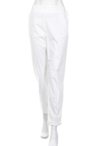 Γυναικείο παντελόνι Stefanel, Μέγεθος L, Χρώμα Λευκό, 96% βαμβάκι, 4% ελαστάνη, Τιμή 25,33€
