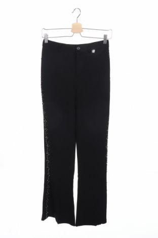 Дамски панталон TWINSET, Размер XS, Цвят Черен, 97% вискоза, 3% еластан, Цена 25,80лв.