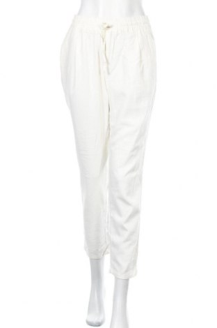 Дамски панталон Vero Moda, Размер M, Цвят Бял, 55% лен, 45% вискоза, Цена 27,90лв.