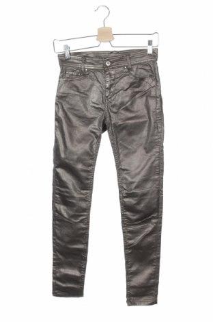 Дамски панталон Women Dept, Размер XS, Цвят Сребрист, 64% памук, 31% полиестер, 5% еластан, Цена 20,47лв.