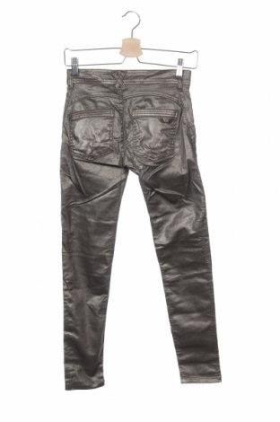 Дамски панталон Women Dept, Размер XS, Цвят Сребрист, 64% памук, 31% полиестер, 5% еластан, Цена 17,80лв.