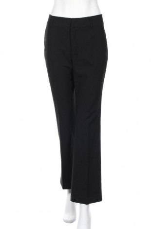 Дамски панталон Zara, Размер M, Цвят Черен, 63% полиестер, 33% вискоза, 4% еластан, Цена 12,92лв.