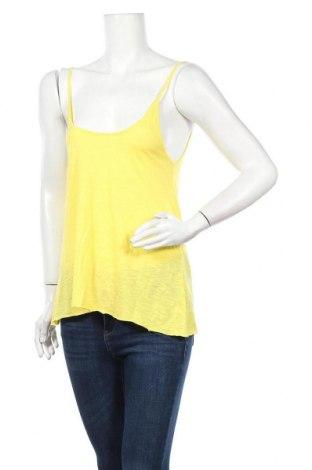 Дамски потник American Vintage, Размер S, Цвят Жълт, 52% памук, 48% вискоза, Цена 22,42лв.