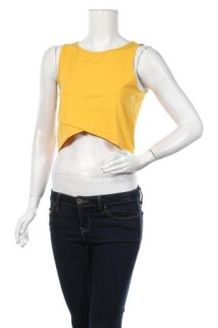 Дамски потник Even&Odd, Размер L, Цвят Жълт, 95% памук, 5% еластан, Цена 15,40лв.