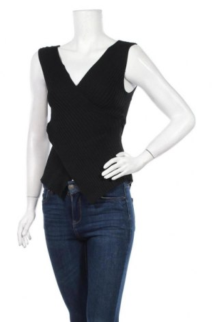 Γυναικείο αμάνικο μπλουζάκι Softy, Μέγεθος M, Χρώμα Μαύρο, 82% βισκόζη, 18% ελαστάνη, Τιμή 4,32€