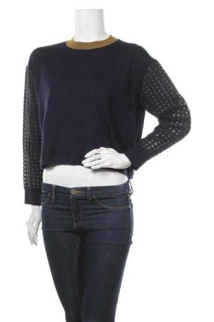 Γυναικείο πουλόβερ, Μέγεθος S, Χρώμα Μπλέ, 91% μαλλί, 9% κασμίρι, Τιμή 10,23€