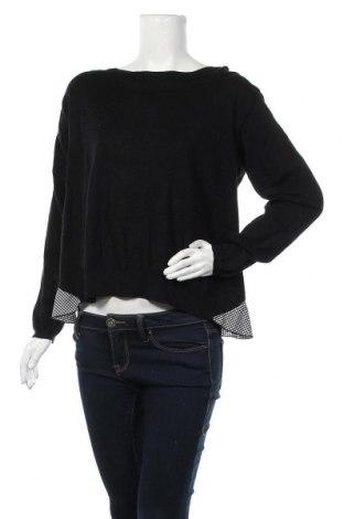 Γυναικείο πουλόβερ, Μέγεθος L, Χρώμα Μαύρο, 53% πολυαμίδη, 47% βισκόζη, Τιμή 16,66€