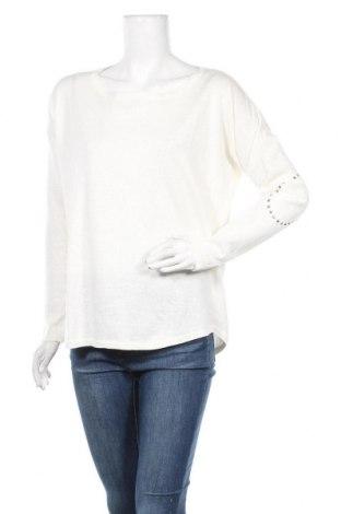 Γυναικείο πουλόβερ Cc, Μέγεθος M, Χρώμα Λευκό, 55% λινό, 45% βαμβάκι, Τιμή 9,10€
