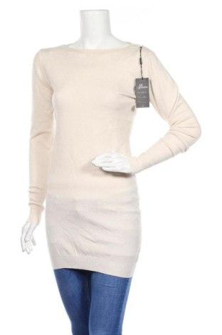 Γυναικείο πουλόβερ Cc Fashion, Μέγεθος XL, Χρώμα Εκρού, 55% βισκόζη, 20% πολυεστέρας, 17% πολυαμίδη, 8% κασμίρι, Τιμή 11,47€