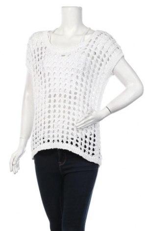 Γυναικείο πουλόβερ Fransa, Μέγεθος M, Χρώμα Λευκό, 50% βαμβάκι, 50% πολυεστέρας, Τιμή 5,46€