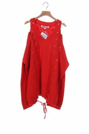 Dámský svetr McQ Alexander McQueen, Velikost XS, Barva Červená, 92% vlna, 8% kašmír , Cena  1297,00Kč