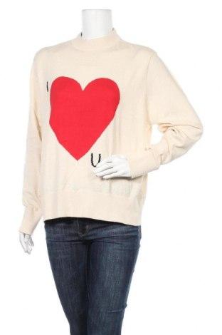 Дамски пуловер Monki, Размер M, Цвят Бежов, Памук, Цена 13,64лв.