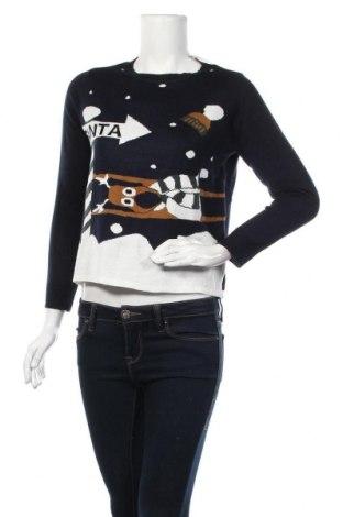 Дамски пуловер ONLY, Размер S, Цвят Син, Акрил, Цена 12,39лв.