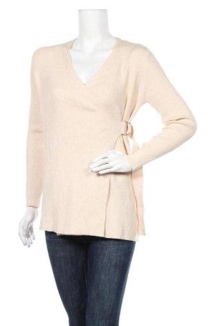 Γυναικείο πουλόβερ Object, Μέγεθος XS, Χρώμα  Μπέζ, 50% βισκόζη, 27% πολυαμίδη, 23% πολυεστέρας, Τιμή 8,89€