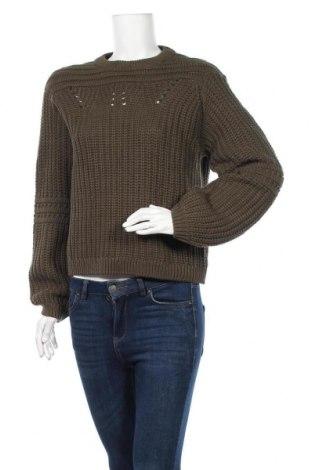 Γυναικείο πουλόβερ Object, Μέγεθος S, Χρώμα Πράσινο, 60% βαμβάκι, 40%ακρυλικό, Τιμή 8,89€
