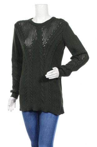 Γυναικείο πουλόβερ Pieces, Μέγεθος M, Χρώμα Πράσινο, 100% βαμβάκι, Τιμή 22,81€