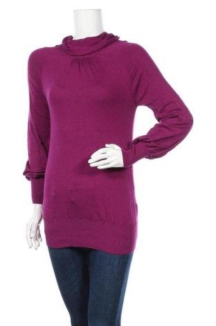 Γυναικείο πουλόβερ Sisley, Μέγεθος S, Χρώμα Βιολετί, 40% βισκόζη, 40% πολυαμίδη, 20% βαμβάκι, Τιμή 5,00€