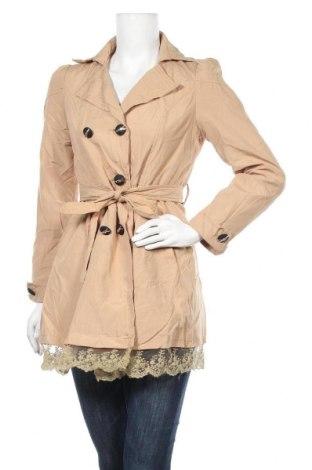 Дамски шлифер, Размер S, Цвят Бежов, Цена 32,55лв.