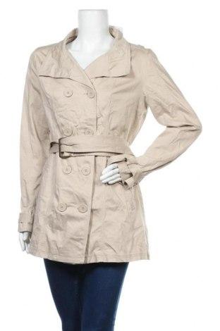 Дамски шлифер Cache Cache, Размер L, Цвят Бежов, 97% памук, 3% еластан, Цена 7,98лв.