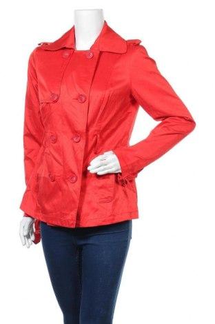 Дамски шлифер Clockhouse, Размер XL, Цвят Червен, 55% полиестер, 45% памук, Цена 11,97лв.