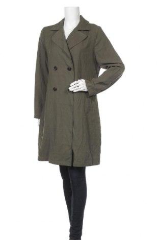 Дамски шлифер Dorothy Perkins, Размер M, Цвят Зелен, 93% вискоза, 7% полиестер, Цена 25,28лв.