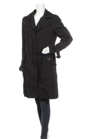 Дамски шлифер H&M, Размер XL, Цвят Черен, 65% полиестер, 35% памук, Цена 18,48лв.