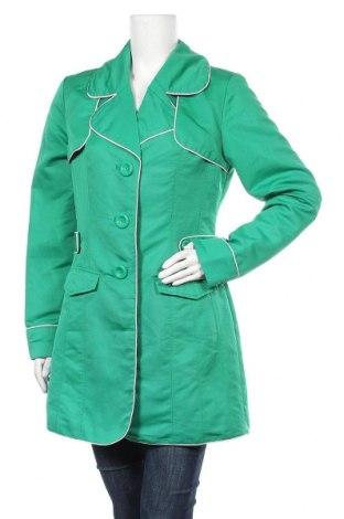 Дамски шлифер Liv, Размер M, Цвят Зелен, Полиестер, Цена 31,61лв.