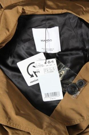 Дамски шлифер Mango, Размер M, Цвят Кафяв, 84% полиестер, 16% полиамид, Цена 72,00лв.