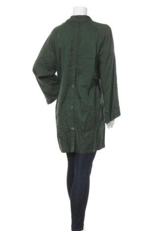 Дамски шлифер Mango, Размер M, Цвят Зелен, 100% тенсел, Цена 31,15лв.