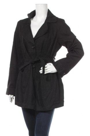 Дамски шлифер Mia Linea, Размер L, Цвят Черен, Памук, Цена 23,21лв.