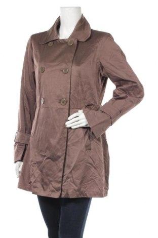 Дамски шлифер Ms Mode, Размер M, Цвят Кафяв, 47% памук, 41% полиестер, 12% полиамид, Цена 10,76лв.