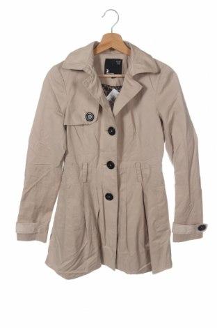 Дамски шлифер Tally Weijl, Размер XS, Цвят Бежов, 55% памук, 45% полиестер, Цена 8,14лв.