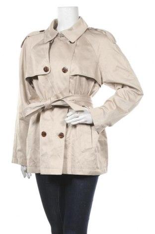 Дамски шлифер Un Deux Trois, Размер XL, Цвят Бежов, 47% полиестер, 44% памук, 9% полиамид, Цена 34,68лв.