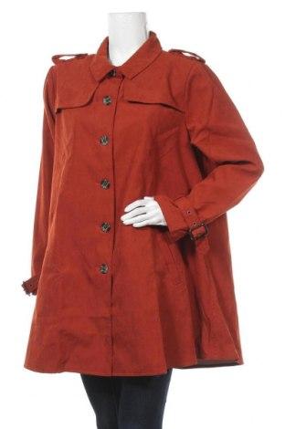 Дамски шлифер Venca, Размер 3XL, Цвят Оранжев, 70% полиестер, 30% полиамид, Цена 66,75лв.