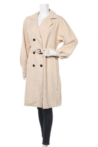 Дамски шлифер Vila, Размер L, Цвят Бежов, 95% полиестер, 5% полиамид, Цена 25,20лв.