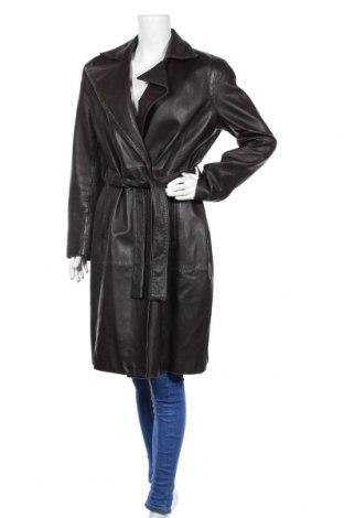 Дамски шлифер Zara, Размер XL, Цвят Кафяв, Естествена кожа, Цена 74,87лв.