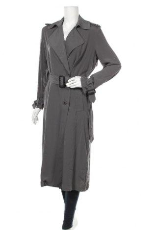 Дамски шлифер Zara, Размер S, Цвят Сив, Полиестер, Цена 49,35лв.