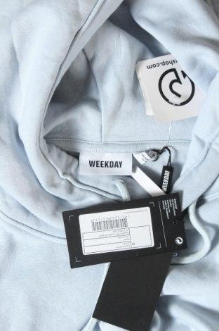 Дамски суичър Weekday, Размер M, Цвят Син, 80% памук, 20% полиестер, Цена 26,55лв.