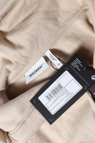 Дамски суичър Weekday, Размер XS, Цвят Бежов, 80% памук, 20% полиестер, Цена 25,37лв.