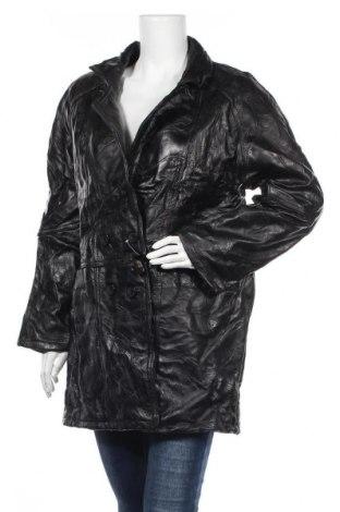 Дамско кожено палто, Размер L, Цвят Черен, Естествена кожа, Цена 59,41лв.