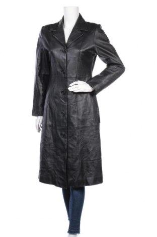 Дамско кожено палто, Размер M, Цвят Черен, Естествена кожа, Цена 72,98лв.