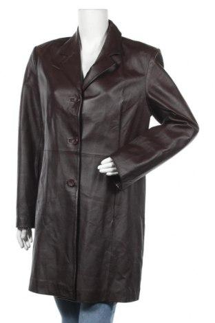 Дамско кожено палто Anonima, Размер XL, Цвят Кафяв, Естествена кожа, Цена 131,36лв.