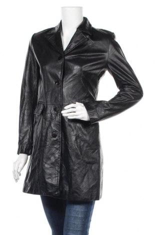 Дамско кожено палто Danier, Размер S, Цвят Черен, Естествена кожа, Цена 55,44лв.