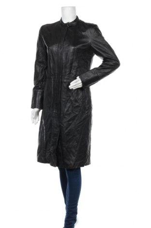 Дамско кожено палто Mango, Размер XL, Цвят Черен, Естествена кожа, Цена 126,95лв.