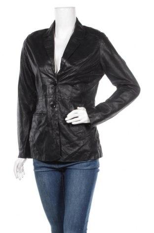 Дамско кожено сако, Размер M, Цвят Черен, Естествена кожа, Цена 21,53лв.