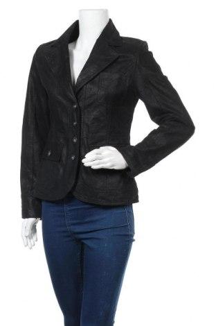 Дамско кожено сако Garcia Jeans, Размер M, Цвят Черен, Естествена кожа, Цена 39,06лв.