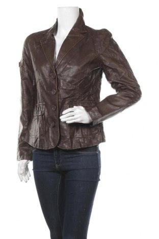 Дамско кожено сако Multiblu, Размер M, Цвят Кафяв, Еко кожа, Цена 9,66лв.