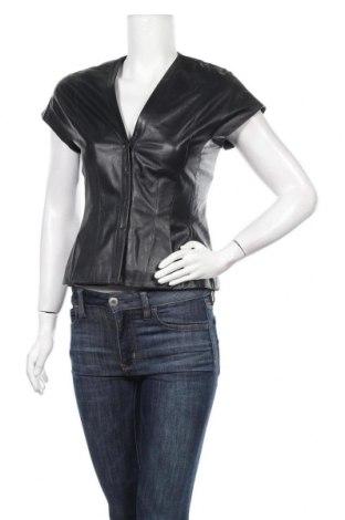 Дамско кожено сако Ports 1961, Размер M, Цвят Черен, Естествена кожа, Цена 107,42лв.